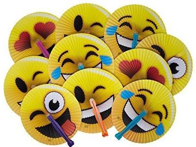 emoji folding fans