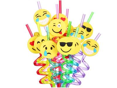 emoji straws