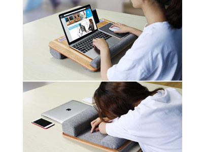 Lap-Desk-With-Tablet-And-Phone-Holder