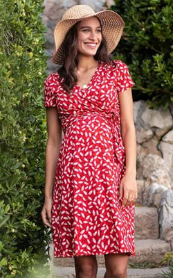 Red-Floral-Maternity-Dress