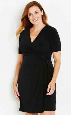 Waist-Tie-Surplice-Maternity-Dress